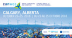 Advisory: Media Credentials Available for Canada's Largest Wind Energy Conference in Calgary October 23-25 (CNW Group/Canadian Wind Energy Association)