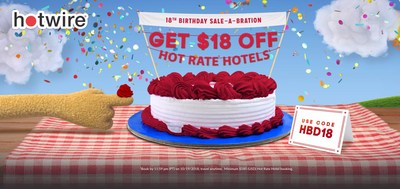 Hotwire celebrates its 18th birthday by offering travelers $18 off $180 with promo code HBD18.