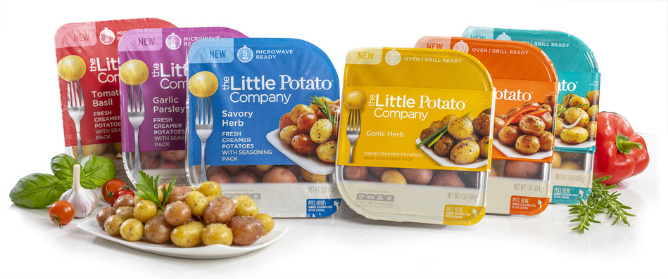Driven by consumer feedback, The Little Potato Company's Microwave Ready and Oven|Grill Ready Kits have gotten a fresh look, more functional packaging and two delicious new flavors: Tomato Basil and Roasted Red Pepper & Onion.