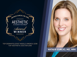 """Dr. Natalie Curcio Lands Two Aesthetic Everything® Awards, Is Named """"Top Aesthetic Doctor"""" and """"#1 Top Dermatologist Middle America"""""""