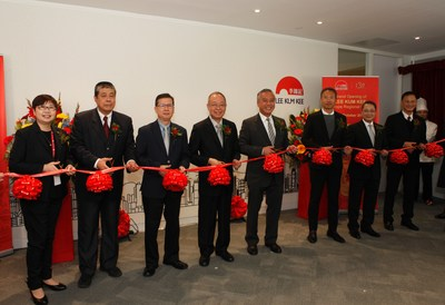 Mr. Charlie Lee, Chairman of Lee Kum Kee Sauce Group (fourth from right) and the Group's management attend the Grand Opening Ceremony of the Group's New Europe Regional Office