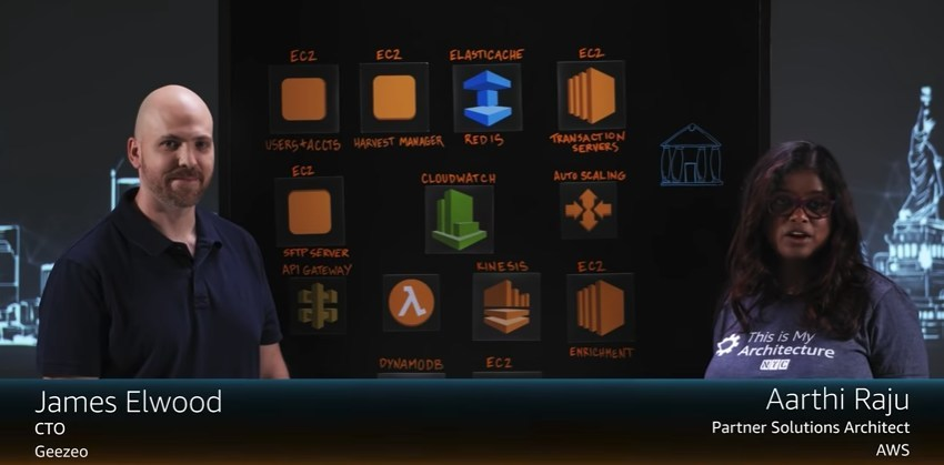 """James Elwood, Geezeo CTO, presents on the Amazon Web Series """"This Is My Architecture."""""""