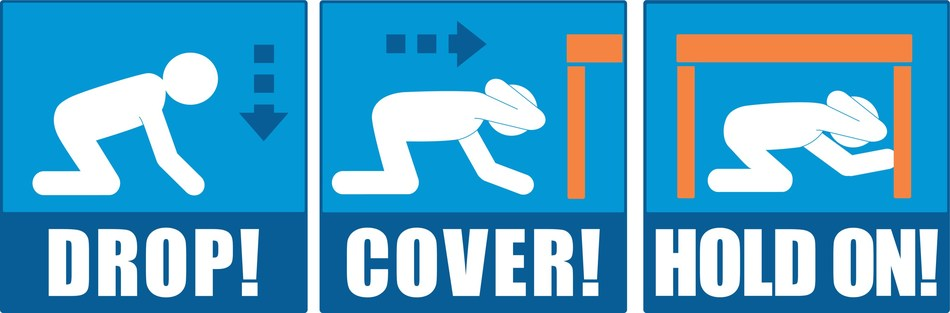 Graphics such as these can be downloaded at ShakeOut.org/messaging in addition to blurbs, key messages, drill broadcast narration recordings, and earthquake safety videos.