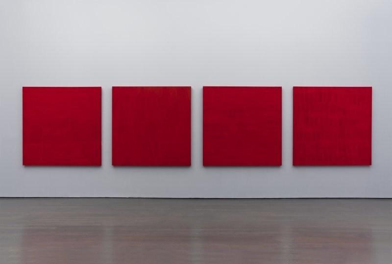 Françoise Sullivan, Rouge no 3, 5, 6, 2, 1997. Collection Musée d'art contemporain de Montréal. Photo : Richard-Max Tremblay © Françoise Sullivan / SODRAC (2018) (Groupe CNW/Musée d'art contemporain de Montréal)