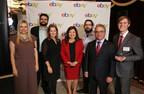L'honorable Mary Ng, ministre de la Petite Entreprise et de la Promotion des exportations (au centre), Stephanie Kusie, députée de Calgary Midnapore (à gauche) et Francesco Sorbara, député de Vaughan—Woodbridge (à droite), se sont joints à Andrea Stairs, directrice générale d'eBay Canada et Amérique latine (au centre à gauche), pour célébrer les petites et moyennes entreprises canadiennes novatrices dans le cadre de la quatorzième édition du concours Entrepreneur de l'année d'eBay Canada ce mercredi soir. Les lauréats de cette année sont notamment (de gauche à droite) Nima Tahmassbi de Montréal (Québec), Mike Maguire de Woodlawn (Ontario) et Matthew Dirk de Calgary (Alberta). (Groupe CNW/eBay Canada)