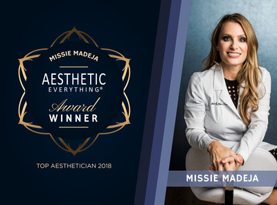Missie Madeja of Laser Skin Couture Receives Top Aesthetician Award in the 2018 Aesthetic Everything(R) Awards (PRNewsfoto/Aesthetic Everything)