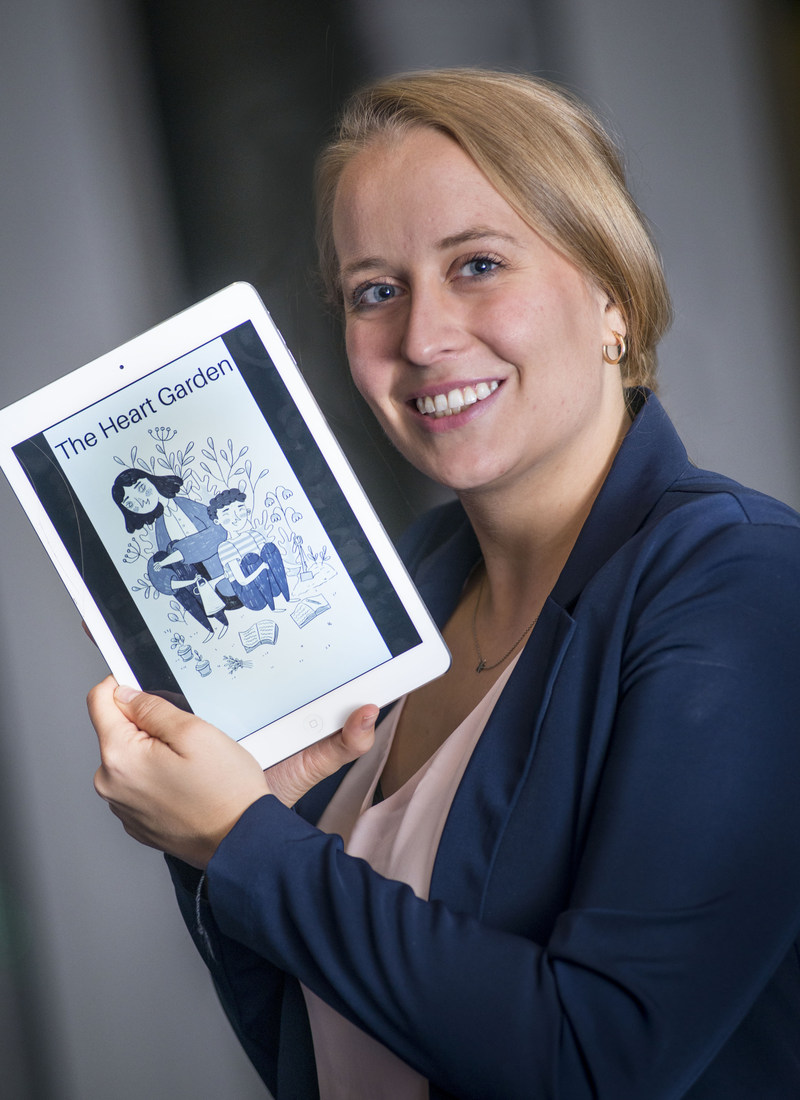 Rachel Thompson, founder and CEO of Marlena Books, has developed a digital reading platform for people with later-stage dementia. (CNW Group/AGE-WELL Network of Centres of Excellence (NCE))