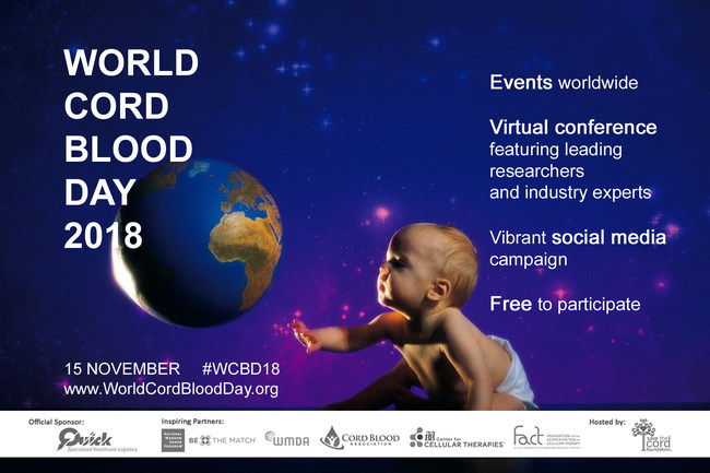 World Cord Blood Day 2018 - Register now for free. Events around the globe. Online conference with cord blood transplant doctors and researchers. Open to the public.