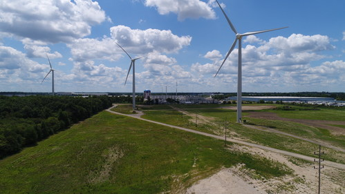 Ball Corporation and One Energy LLC announced today that three additional wind turbines will be built near Ball's Findlay, Ohio, metal packaging plant. The three new turbines will join these existing three turbines and together are expected to provide about 30 percent of the plant's power needs over the next 20 years.
