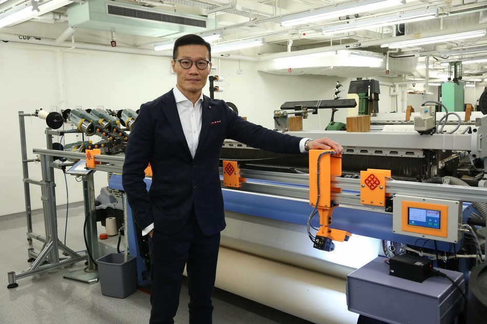 """Prof Wong's team integrates Artificial Intelligence, Big Data, Deep Learning and Machine-vision technologies in """"WiseEye"""" which enhances the automation of quality control in textile manufacturing (PRNewsfoto/PolyU)"""