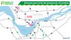 Entraves pour la fin de semaine du 19 octobre (Groupe CNW/Ministère des Transports, de la Mobilité durable et de l'Électrification des transports)