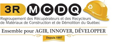 Logo : Regroupement des récupérateurs et des recycleurs des matériaux de construction et de démolition du Québec (3R MCDQ) (Groupe CNW/3R MCDQ)
