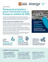 Fiche d'information - Partenariat prometteur entre l'Université Laval et Énergir en matière de GNR (Groupe CNW/Énergir)