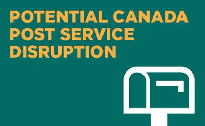 Toronto Hydro customers who receive their bills through the mail may experience a delivery disruption in the event of a Canada Post strike. (CNW Group/Toronto Hydro Corporation)