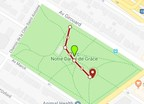 Park NDG : place where the tree will be planted (CNW Group/Ville de Montréal - Arrondissement de Côte-des-Neiges - Notre-Dame-de-Grâce)