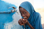 A girl child drinks safe water from a tap outside a UNICEF supported school in the village of Dafo, situated 5 km from the city of Tadjourah, in the southern Djibouti. © UNICEF/UN0199513/Noorani (CNW Group/UNICEF Canada)