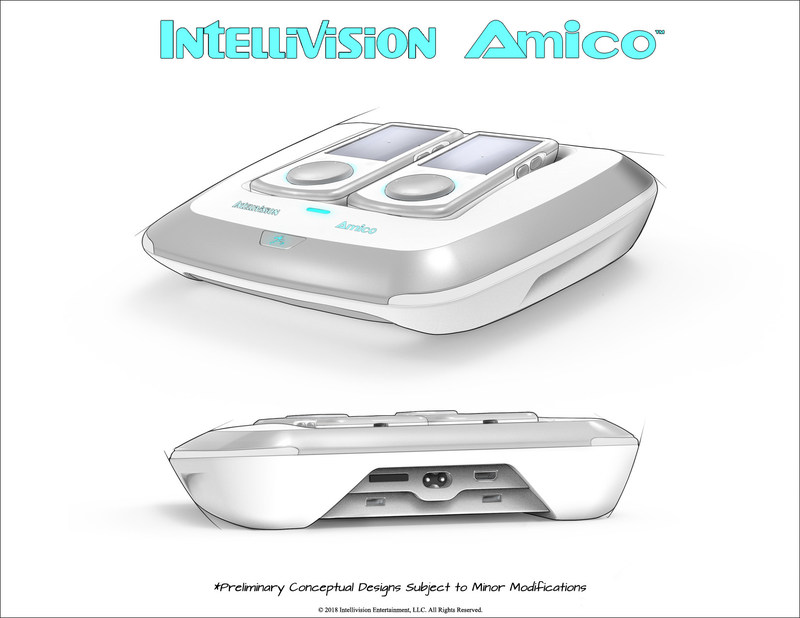 Intellivision Amico - Sketch Reveal 1 (Front & Back)