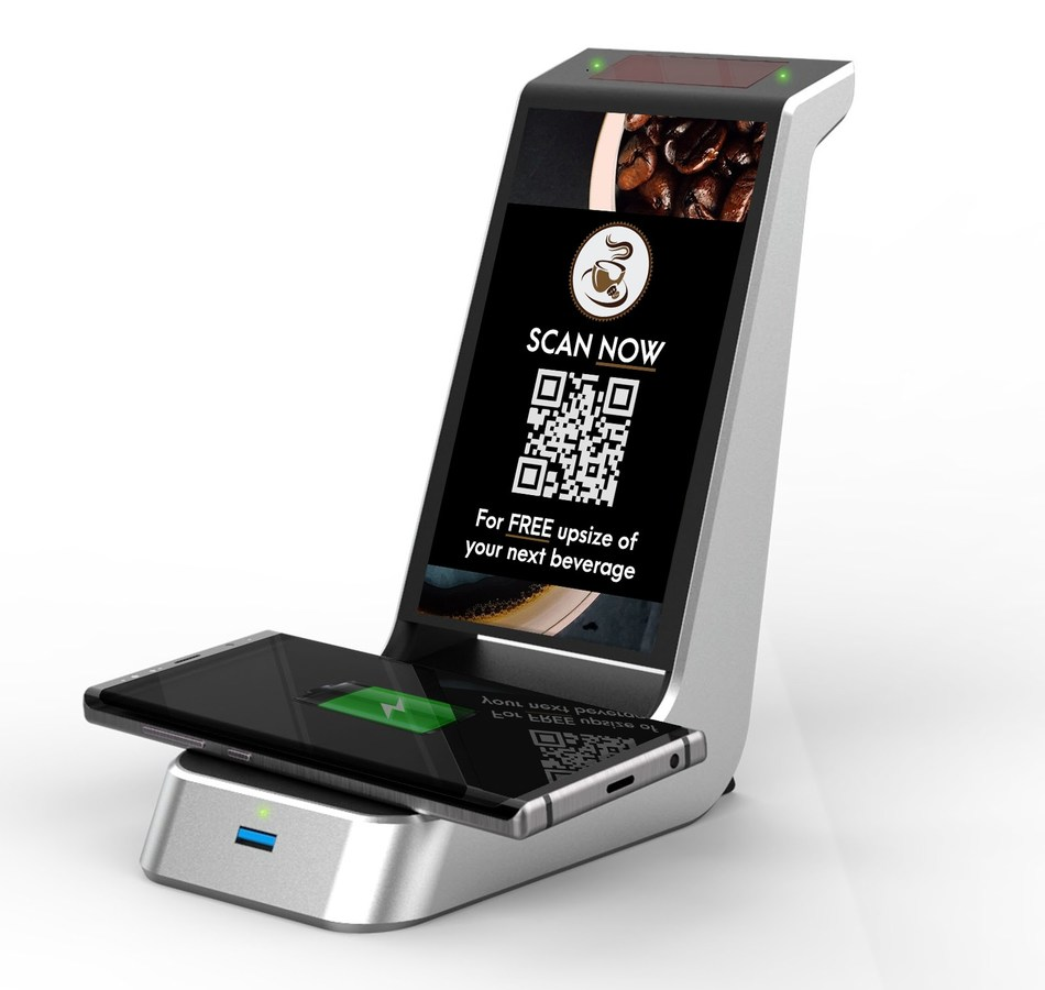 The Kube Systems Beam Charging solution, powered by Wi-Charge, delivers a wire-free mobile phone charging solution coupled with a targeted advertising platform.