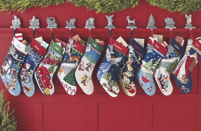 Lands' End celebrates 25 years of making holiday memories with its festive needlepoint Christmas stockings