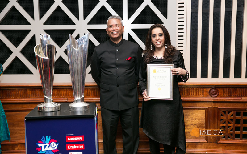 At the IABCA ceremony - Dr A.M. Gondane High Commissioner of India to Australia with Ms Ravneet Pawha, Deputy Vice President (Global Engagement) and CEO (South Asia), Deakin University, Australia (PRNewsfoto/Deakin University)