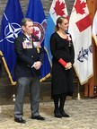 First Poppy Presentation to Governor-General Julie Payette by Legion Dominion President Thomas D. Irvine (CNW Group/The Royal Canadian Legion Dominion Command)
