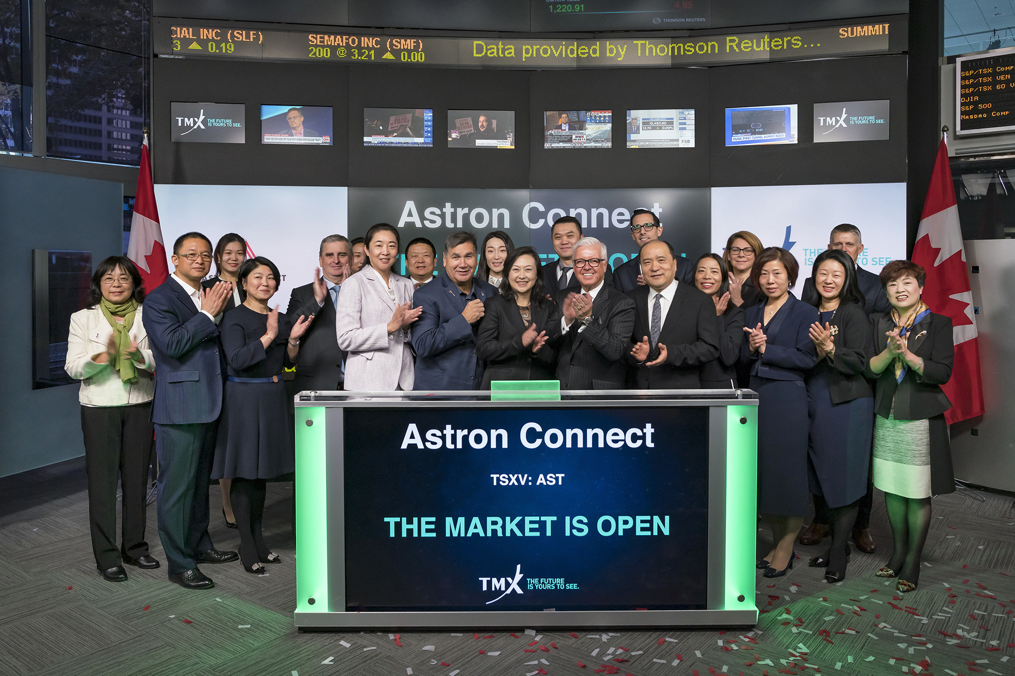 Astron Connect Inc. Opens the Market (CNW Group/TMX Group Limited)