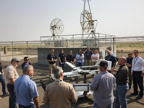 FAA teams examine Insitu's ScanEagle3 at a Type Certification Board Meeting in Bingen, Washington.