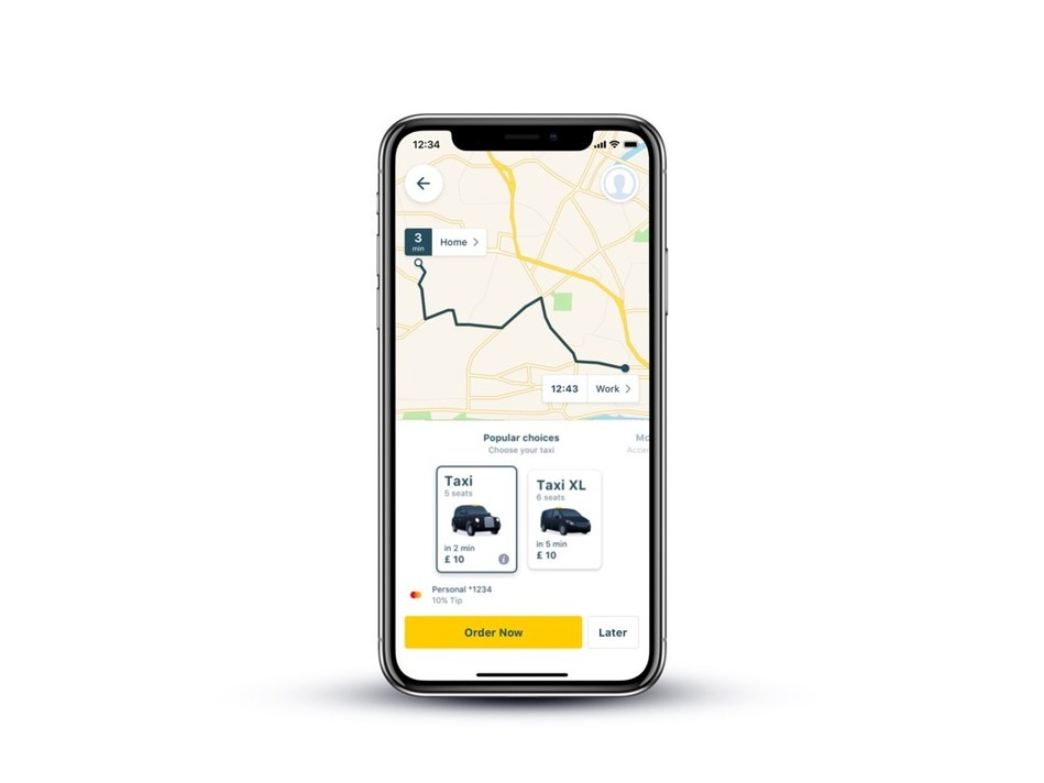 Mytaxi new app options for passengers