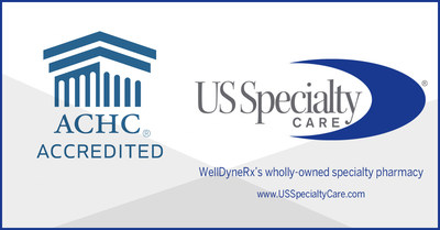 US Specialty Care (USSC), WellDyneRx's wholly-owned specialty pharmacy, achieved accreditation through the Accreditation Commission for Health Care (ACHC) for Specialty Pharmacy Services