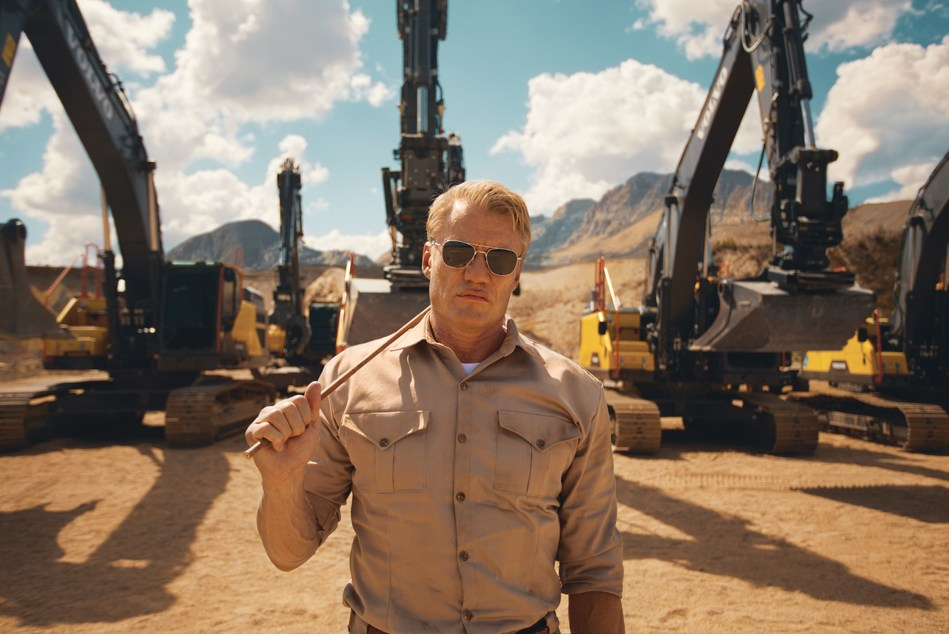 Dolph Lundgren leads the action in Volvo Construction Equipment's Pump It Up - a new film showcasing the ultimate in excavator endurance