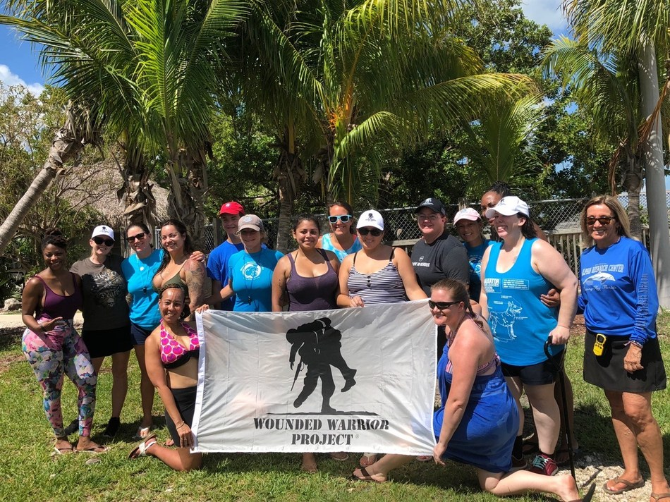 Female veterans felt empowered as they connected on their own terms during a weekend in the Florida Keys organized by Wounded Warrior Project® (WWP). The weekend included workshops, camaraderie and community service at the Dolphin Research Center in Grassy Key.