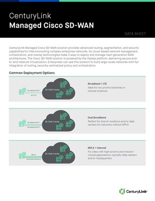 CenturyLink launches Managed Cisco SD-WAN powered by Viptela.