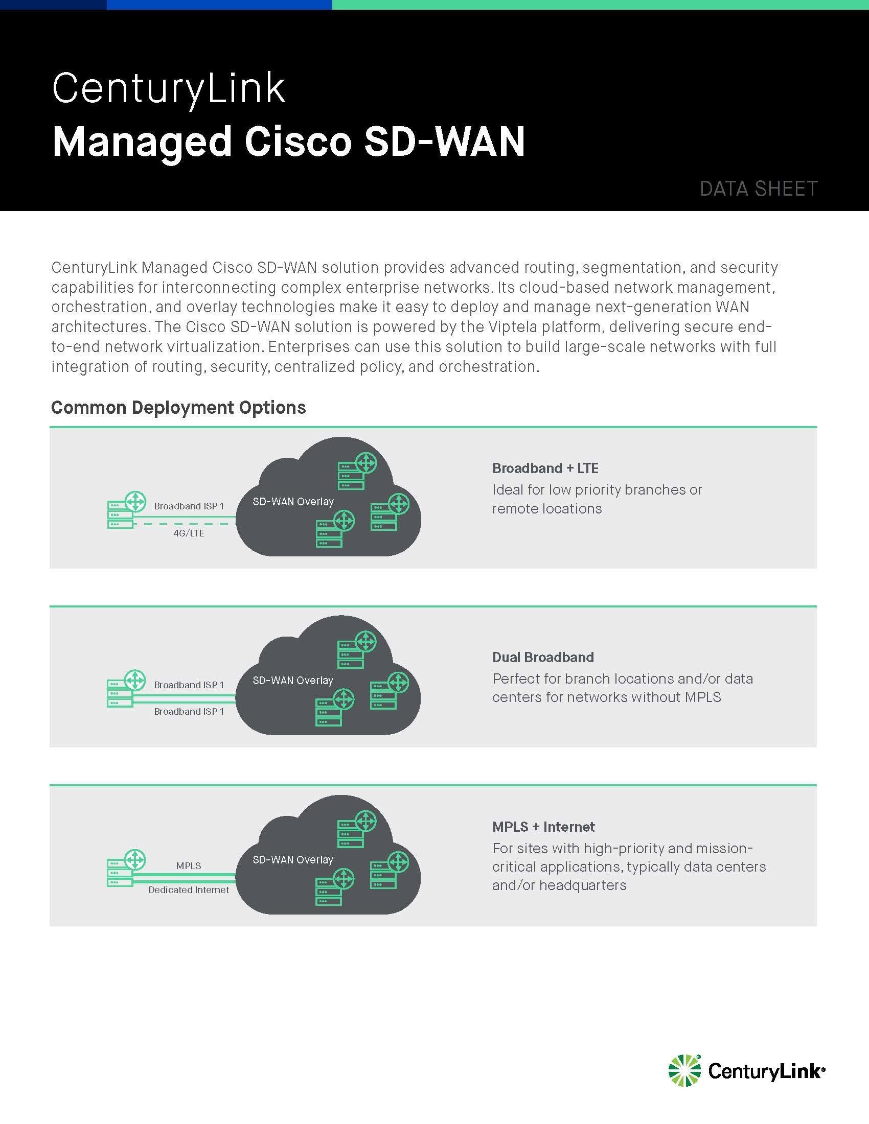 CenturyLink launches Managed Cisco SD-WAN