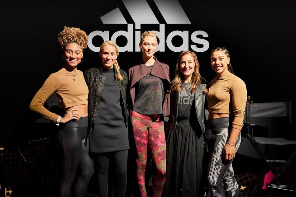 adidas Statement Collection NYC event (L-R) Ally Love, Katie Becker, Karlie Kloss, Pascha Naderi-Nejad, Hannah Fallis Bronfman
