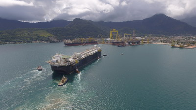 The FPSO P-69 is a standardized production vessel offshore Brazil with a capacity for 150,000 barrels of oil and 6 million cubic feet of natural gas a day.