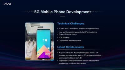 Vivo's 5G mobile phone development: Technical challenges and latest development