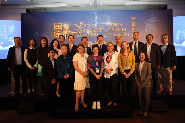 "CITVC-CCTV-CDIMC-Endemol Shine Group-BBC World News signing ceremony on October 14, 2018 Cannes, France for ""The Nation's Greatest Treasures"" & ""China's Greatest Treasures"" TV programs"