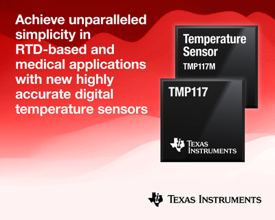 At ±0.1°C accuracy over a wide temperature range, TI's single-chip digital temperature sensors help engineers reduce design complexity