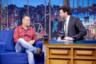 Danilo Gentili entrevista W. Veríssimo no The Noite desta quarta. (PRNewsfoto/SBT)