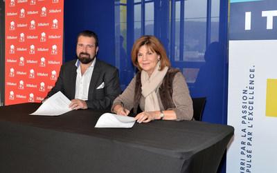 Richard Scofield, président des Rôtisseries St-Hubert et l'honorable Liza Frulla, C.P., C.M., O.Q., directrice générale de l'Institut de tourisme et d'hôtellerie du Québec (ITHQ) (Groupe CNW/Institut de tourisme et d'hôtellerie du Québec)
