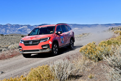 Rebelle Rally Honda Pilot makes public debut
