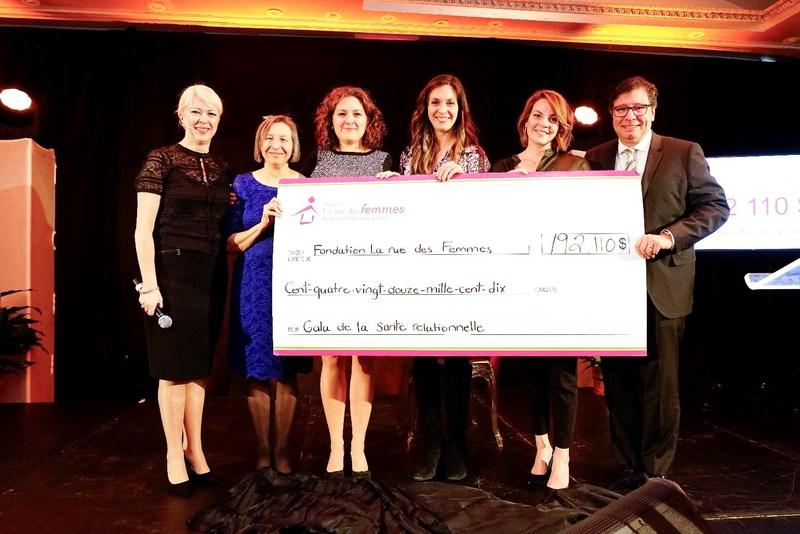 Gala de la santé relationnelle de La rue des Femmes : plus de 192 000 $ amassés au profit de la Fondation La rue des Femmes. (Groupe CNW/La rue des Femmes)