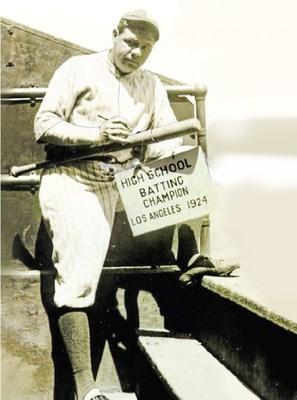 美國國寶級棒球運動員貝比魯斯1924年擊出全壘打的球棒將被拍賣