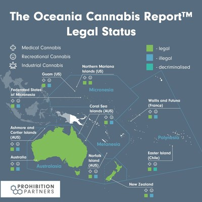 Oceania Legal Cannabis Status -  The Oceania Cannabis Report™