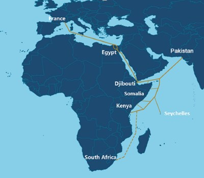 Route Overview of PEACE Cable