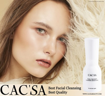 CAC'SA introduces Facial Treatment Cleansing Serum-In-Oil, an innovative anti-wrinkle and facial cleansing product that comes with a top quality extract: SWT-7