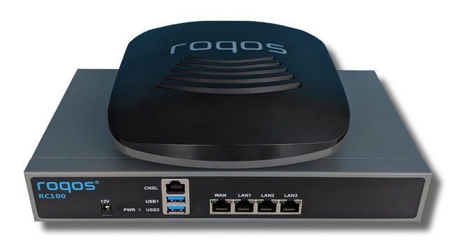 Roqos Core RC10 and RC100 cybersecurity VPN routers for homes and small businesses