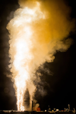 Raytheon's newest variant of the Standard Missile-3 completed its second successful intercept flight test on Oct. 26, 2018, at the U.S. Navy's Pacific Missile Range Facility in Kauai, Hawaii. (File photo: Missile Defense Agency)