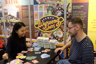 Board games enthusiasts are having some fun at the Indonesian 'Archipelageek' pavilion