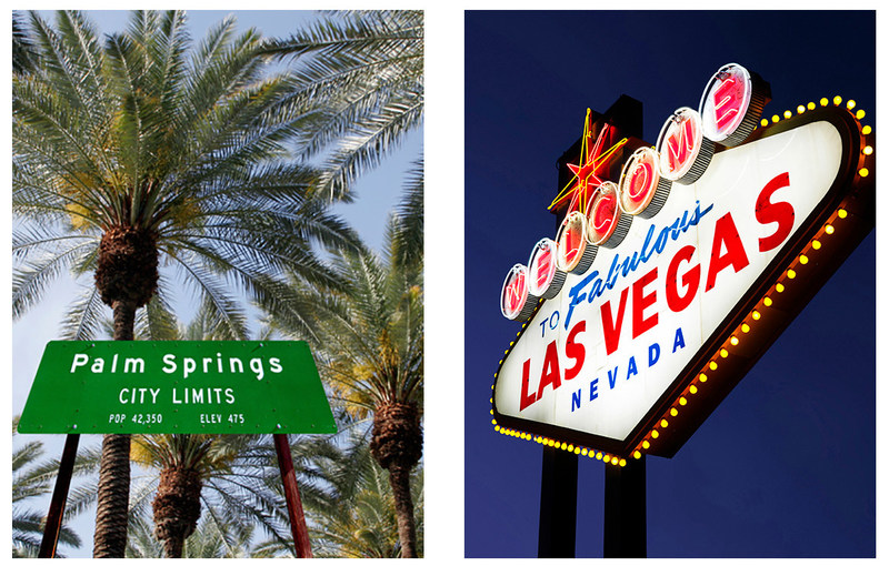 The inaugural flights from Edmonton to Las Vegas and from Calgary to Palm Springs took place Sunday. (CNW Group/Air Canada)